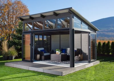 The side view of a Visscher Specialty Gazebos Colorado